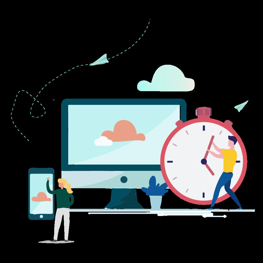 flatdesign plateforme cloud objeos service